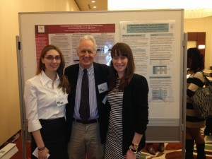 Juniors Jordan Kohn and Sally Milnes with TCNJ Communications professor Dr. John C. Pollack at the  biannual DC Health Communication Conference