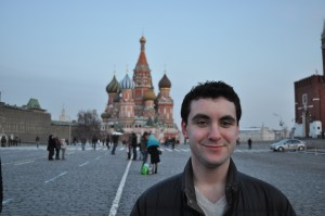 Bryan Furman at Red Square in Moscow, Russia