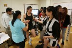 Students from China's Shanghai Sports Institute study at TCNJ