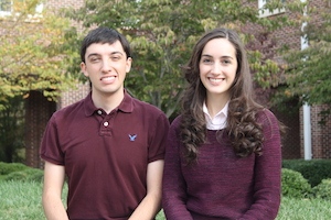 Brandon Gottlob and Susan Knox are among nine college students selected for statewide STEM program.