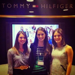 Jenna Nerger, Stephanie Menakis, and Tracy Kaplan at Tommy Hilfiger Headquarters in NYC.