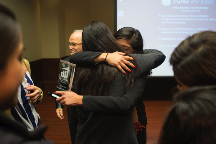 Tikka Team won first place in the Mayo Business Plan Competition, the first all-female team to take the top spot in the program's four-year-long history. Photos by Dustin Fenstermacher