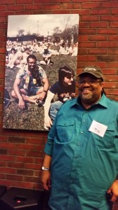 Dorian Parreott '88 reminisces about days gone by. A photo of him circa 1984 hangs in the Rat.