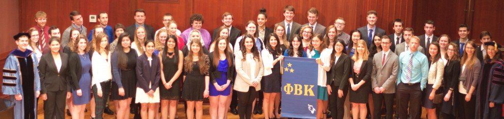 69 new members were inducted to Phi Beta Kappa in 2016. Photo by Kim Ilkowski.
