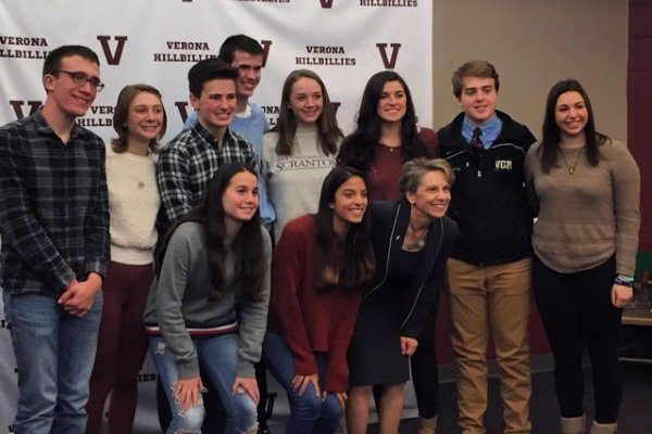 TCNJ's president eases college anxiety at Verona High School—MyVeronaNJ.com