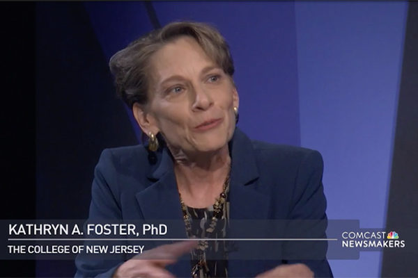 President Foster talks about TCNJ's initiatives — Comcast Newsmakers