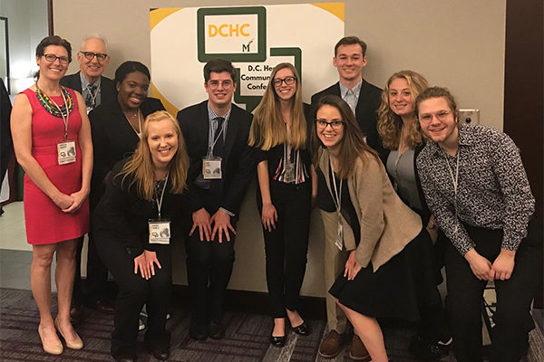 TCNJ communication studies students break records at D.C. Health Conference