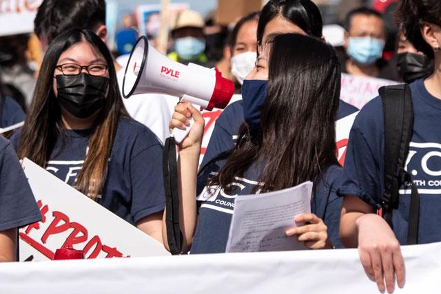 news.tcnj.edu: TCNJ junior Gabriella Son leads #StopAsianHate march in hometown